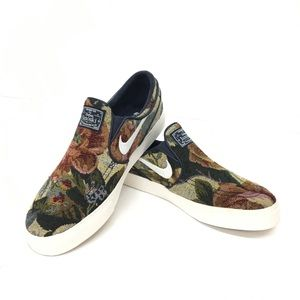 Nike SB Janoski Floral Couch Slip-On Skate Shoes
